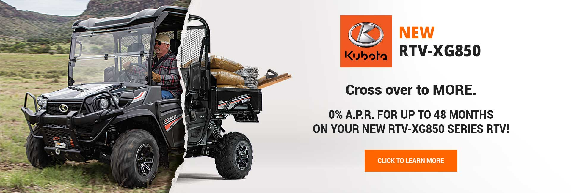 Kubota sidekick- rtvxg850